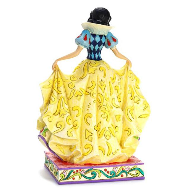 【enesco精品】Disney Traditions 迪士尼公主 白雪公主裙擺浮雕畫 手工塗裝仿木雕塑