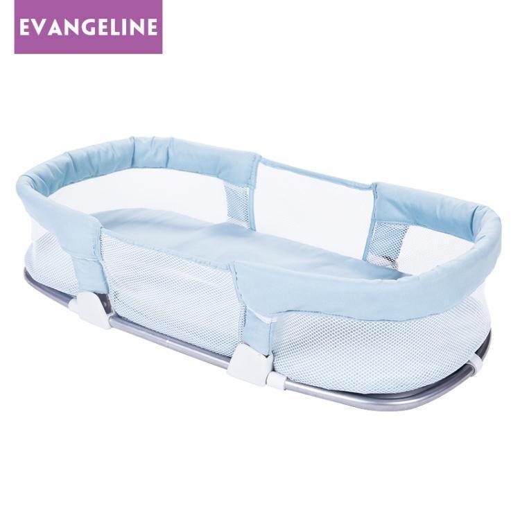 便攜式嬰兒床中床 多功能新生兒寶寶睡籃 嬰幼兒bb床外出可折疊WY