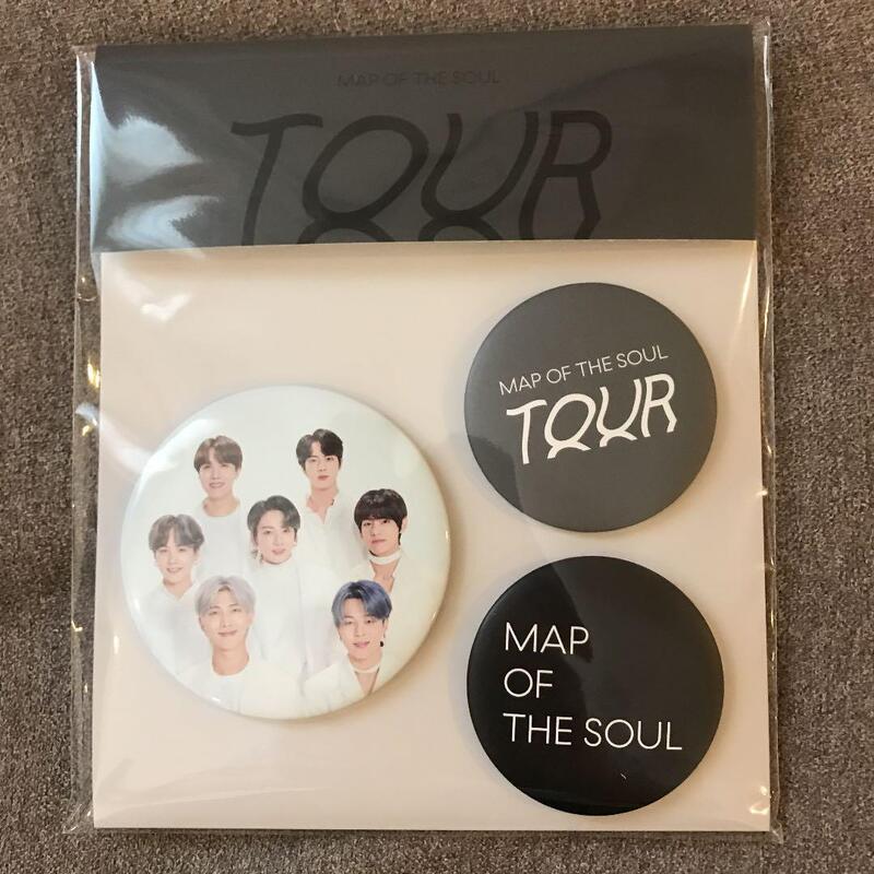 【代購】防彈少年團 BTS 巡迴演唱會 MAP OF THE SOUL TOUR 徽章 (3個入) 韓國官方周邊