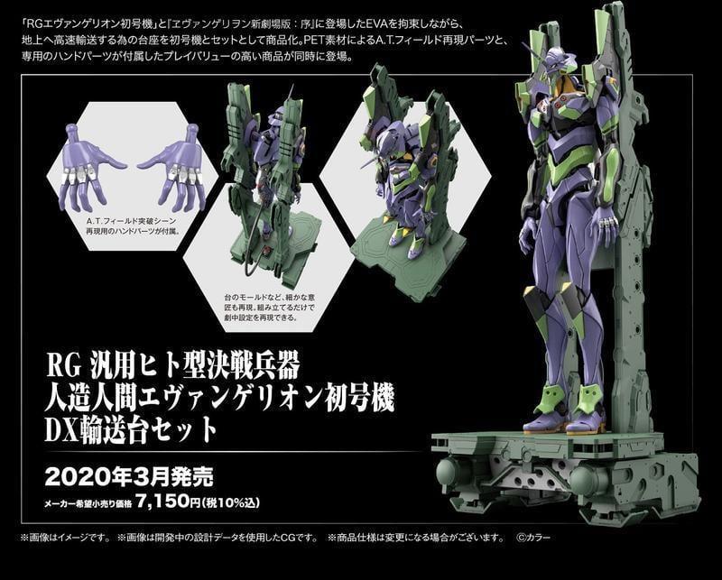 【合川玩具 】現貨販售 BANDAI  組裝模型 RG 新世紀福音戰士 初號機 DX版 豪華版 輸送台套組 6500