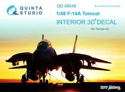 ㊣ Quinta Studio 1/48 F-14A 美軍艦載熊貓戰鬥機 Tamiya 3D立體浮雕水貼 QD48048