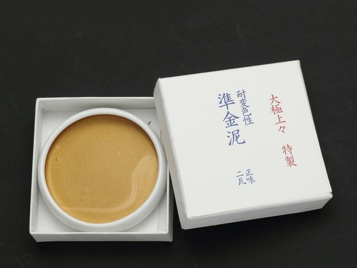 【正光興貿易】『日本原裝總代理』耐變色性準金泥 (瓷碟型2g)#金銀泥#膠彩畫#繪畫工藝材料