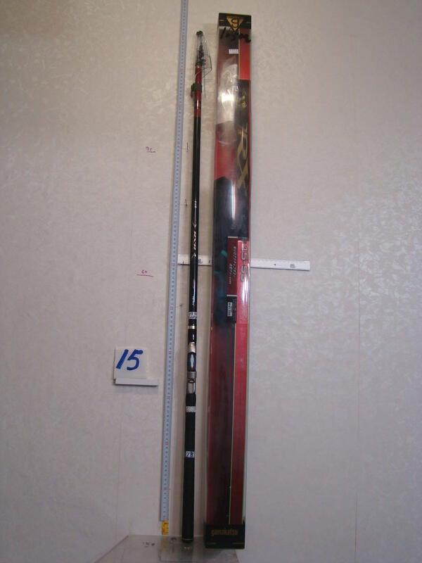 已賣出,待改其他商品,請勿下標,謝采潔 日本二手外匯釣具GAMAKATSU1.5-53 17.5尺 磯釣竿18  R15