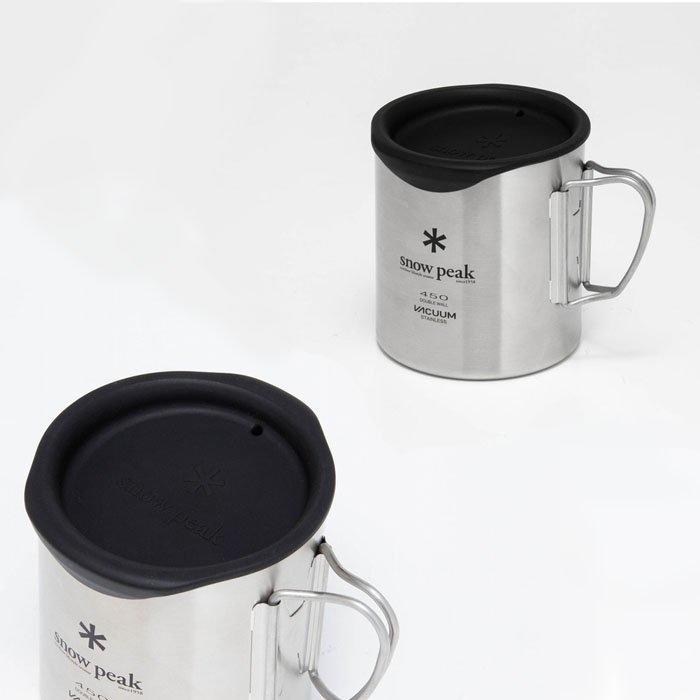 綠野山房》Snow Peak 日本 矽膠馬克杯蓋 雙層杯蓋 450ml雙層杯MG-053專用 附有飲用口 MGC-055