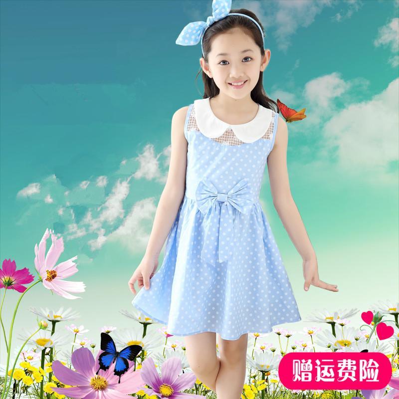 兒童裝女童夏裝連衣裙8大童女裝9夏季7公主5裙子10夏款小女孩12歲