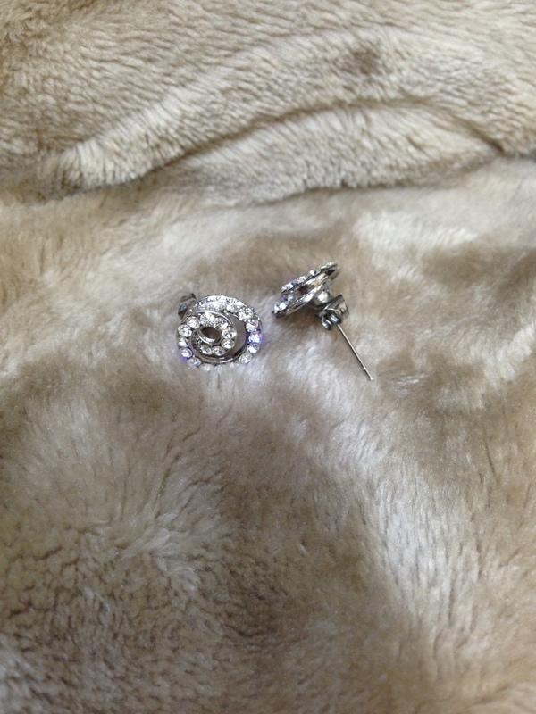 螺旋水晶耳環