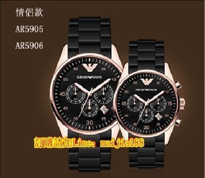 【名錶世家】ARMANI 阿瑪尼韓版時尚 阿曼尼陶瓷手錶腕錶手錶 防水錶男女錶 阿瑪尼AR1426 chanel J12