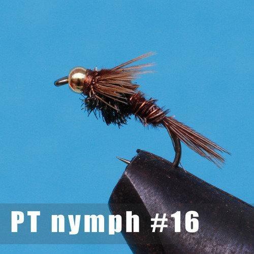 【飛蠅釣專賣】銅珠頭若蟲毛鉤_棕色(x5)