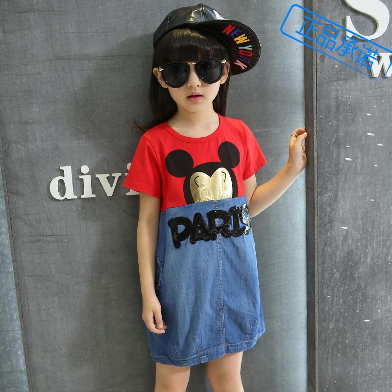 2016夏款女童裝兒童中大童夏季連衣裙純棉短袖公主裙子品牌兒童裙