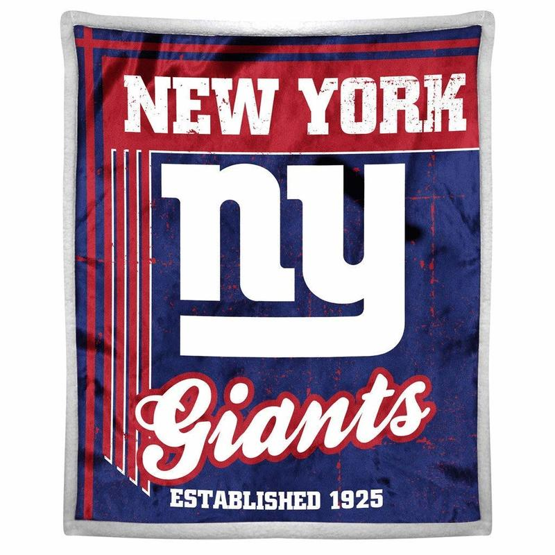 [現貨]紐約巨人小毛毯 NFL雙層加厚空調毯 美式足球New York Giants復古風Sherpa蓋毯生日禮