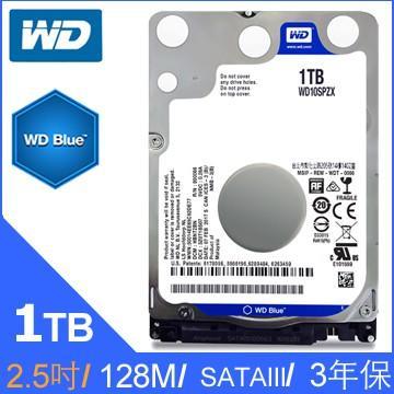 含發票有保障~2.5吋 1TB WD WD10SPZX 藍標 1T 7mm NB硬碟 另有2TB seagate