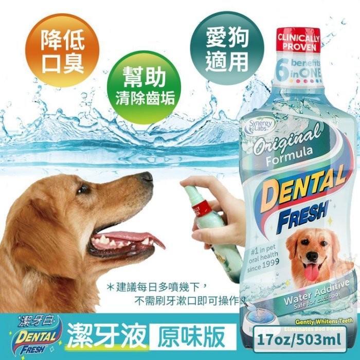 *WANG*美國Dental Fresh潔牙白《犬用-潔牙液(原味版)》17oz