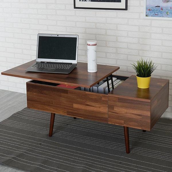 茶几 收納桌 升降桌 接洽桌 58傢俱小舖:史丹升降大茶几 書桌 工作桌 TA-1815C(淺胡桃色)