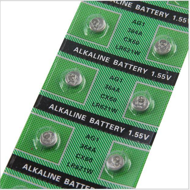天益牌AG1/364A/CX60/LR621W/L621/164/SR621鈕扣電池1.5V水銀電池1.55V