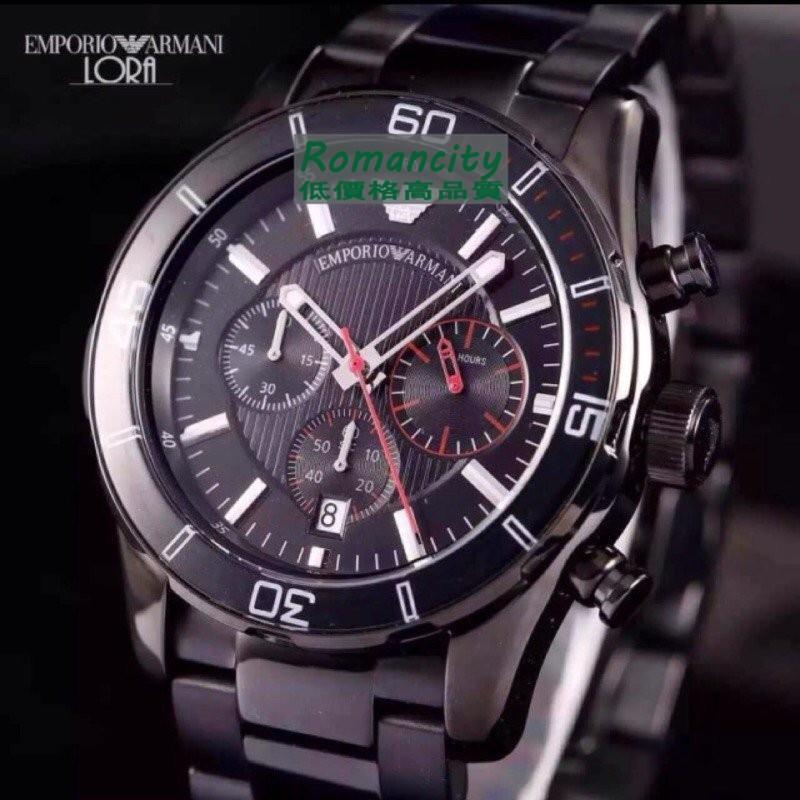 Armani現貨全新 男士腕錶AR5932 白 AR5931黑 AR5933藍
