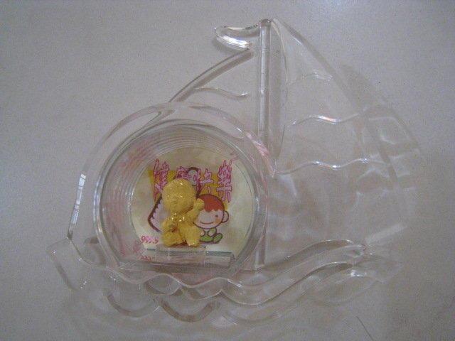 水晶系列黃金公仔♥純金擺飾 精緻禮盒 便宜賣