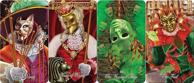 2018獨家★塔羅事典★孟小靖的塔羅博物館《威尼斯狂歡節塔羅牌 Venetian carnival tarot》限量