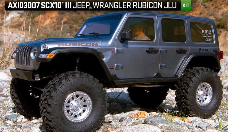 天母168  全新 SCX10 III Jeep JLU Wrangler 攀岩車 KIT 自組版 AXI03007