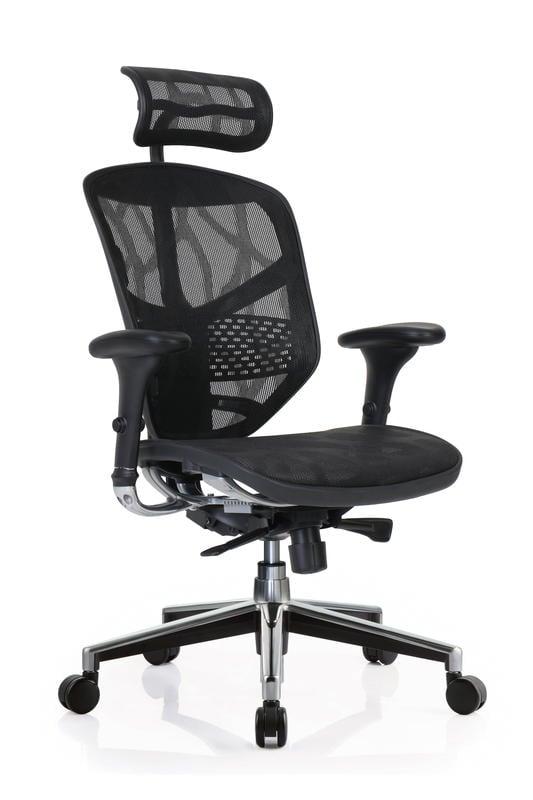 台灣全網椅銷量第一 ENJOY-121企業版(採美製MATREX雲彩網ZB2黑色)+鋁合金腳