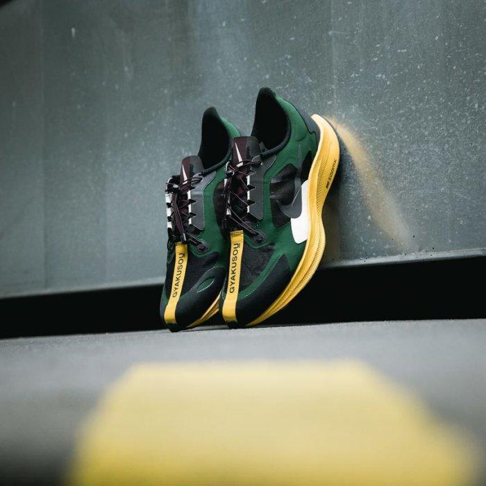 S.G NIKE GYAKUSOU PEGASUS 35 TURBO BQ0579-300 黑綠黃色 慢跑鞋