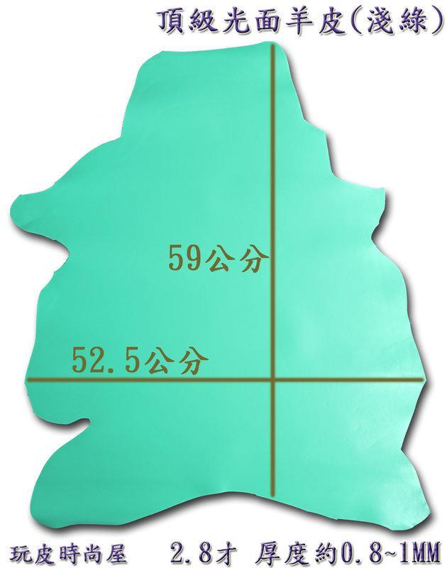★玩皮時尚屋☆~頂級光面羊皮(淺綠)-2-2.8才