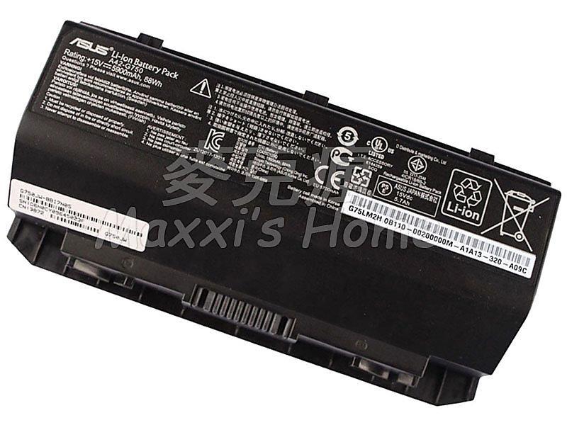 【麥克瘋】原裝全新華碩ASUS ROG G750JX系列筆記型電腦筆電電池8芯88WH黑色保固三個月-5311709