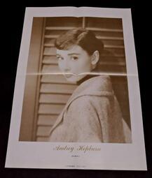 【南傑克商店街】/『書報攤』/對折明星海報/Audrey Hepburn奧黛麗赫本+PLAY Generation II