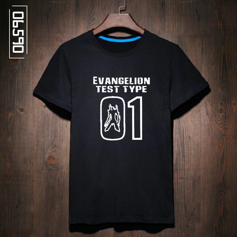【優材質】新款夏裝男短袖 動漫潮牌EVA零號機初號機新世紀福音戰士t恤短袖
