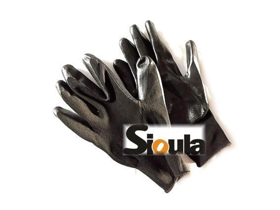 ((( 一隻紅螞蟻 )))13針尼龍塗丁晴膠手套,防滑,防曬,園藝用,工作手套,休閒運動,高爾夫球-黑黑