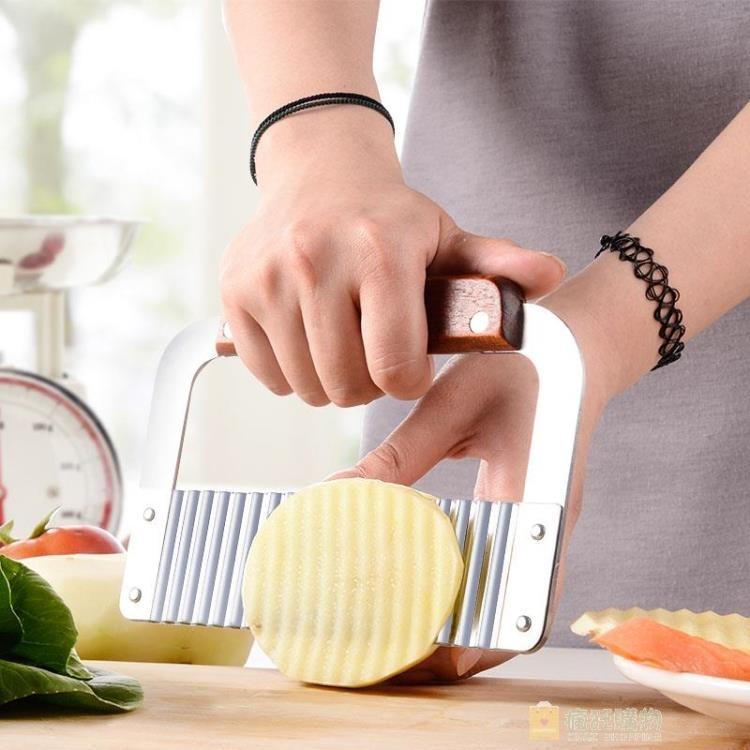 不銹鋼波浪刀狼牙土豆花波紋刀切薯條切片絲切條器薯格切菜器家用