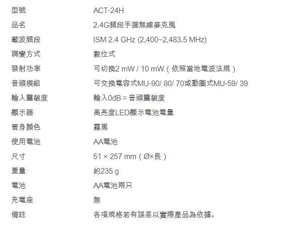 【好康投影機】MIPRO ACT-2402/ACT-24H*2 半U雙頻道數位式接收機~來電詢問享優惠~歡迎洽詢~