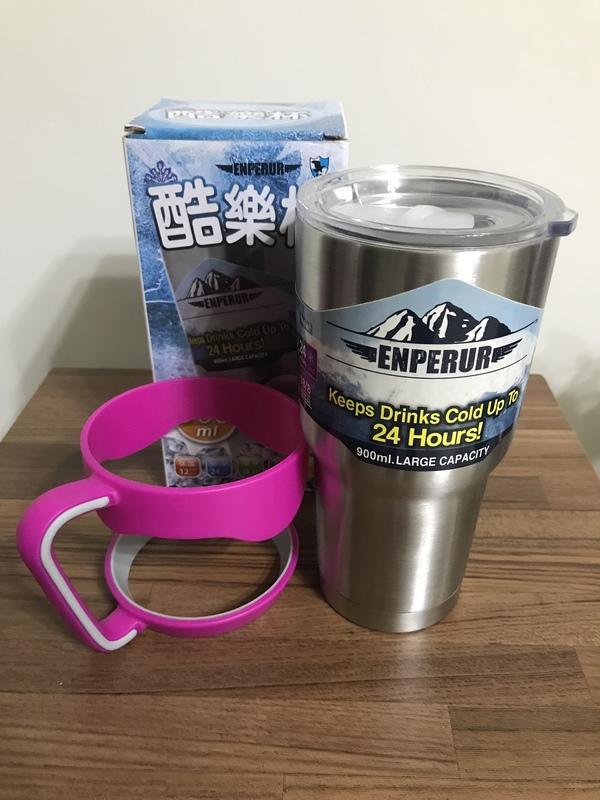 304不鏽鋼 冰霸杯 酷冰杯(保泠保溫) 大容量900ml (含架)$150