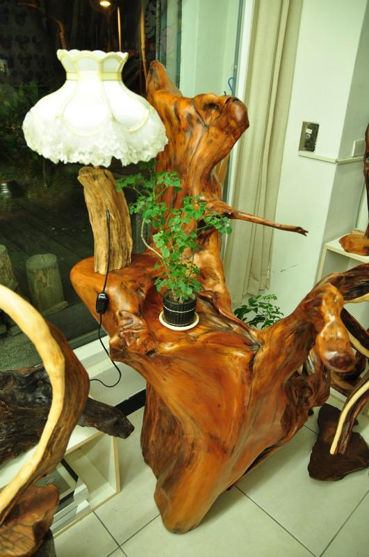 樹燈之家 台灣檜木屏風 實木屏風 原木 稀有大件