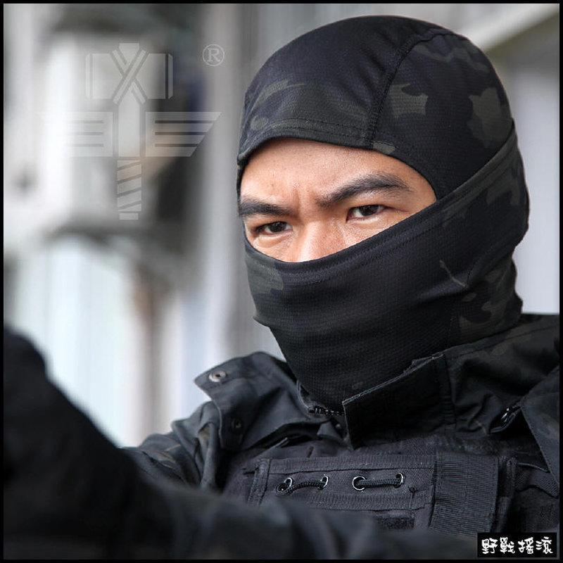【野戰搖滾-生存遊戲】魔蠍迷彩忍者頭套【Multicam Black】暗夜迷彩 黑色多地形迷彩戰術頭套重機面罩自行車口罩