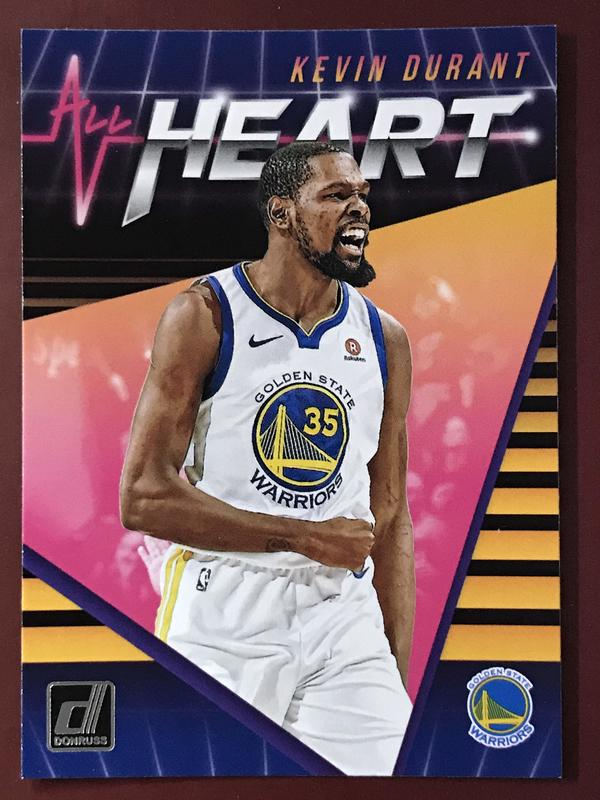 2018-19 Donruss All Heart #5 Kevin Durant 特卡