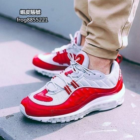Nike Air Max 98 X Supreme 聯名款  紅白灰 全氣墊 慢跑鞋 男鞋