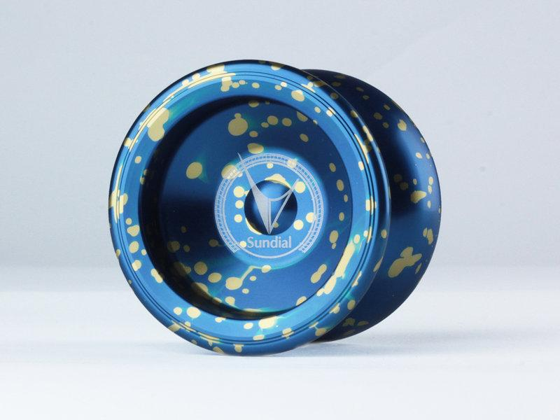 Sundial 日晷 潑墨藍色 競技專用 競技 初學 教學 教材 國產 全金屬 航太金屬 溜溜球 奇妙 yo-yo