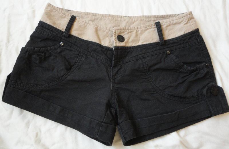 ~~。~~(衣櫃出清)黑色 造型 反折短褲 熱褲(s號) 出清價150