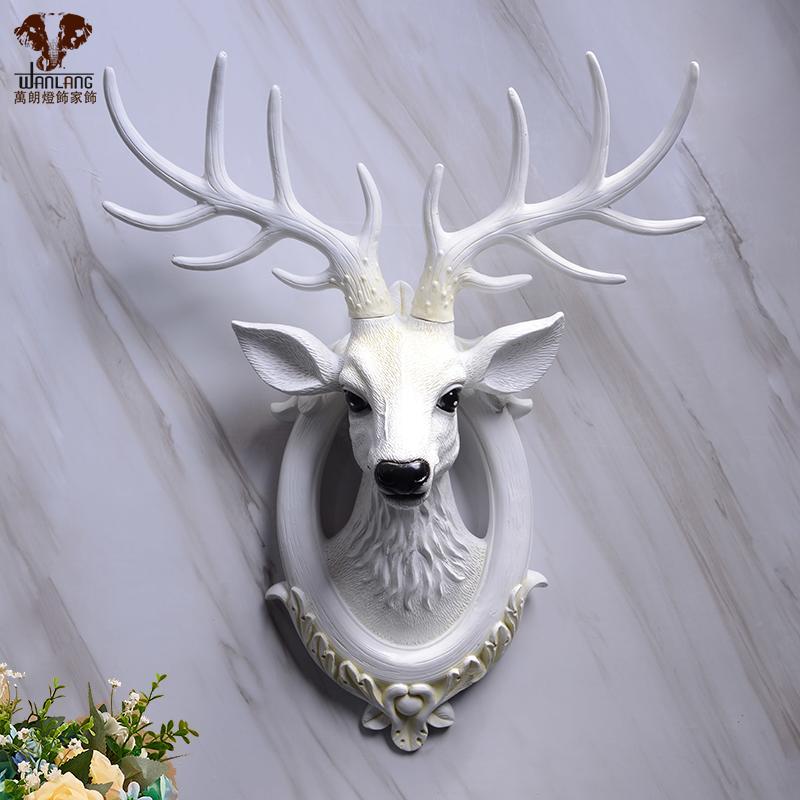 招財鹿頭壁掛 小號掛件墻壁裝飾創意壁飾 客廳玄關臥室墻
