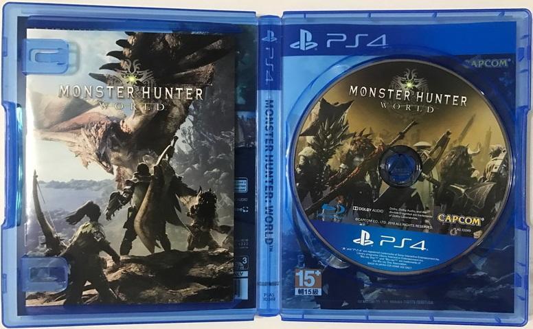 """""""電玩米奇""""PS4(二手A級) 魔物獵人:世界-中文版~單件運費30.買兩件再折50"""