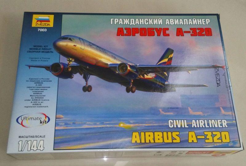 1/144~Zvezda~Airbus/空中巴士,A320中短程商用双引擎客機(凹模)