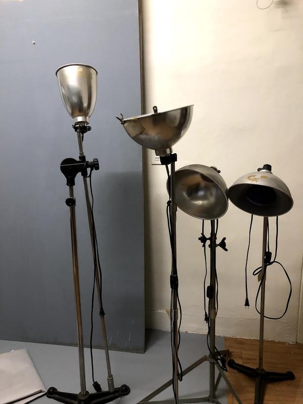 二手LED攝影棚燈,四件一組
