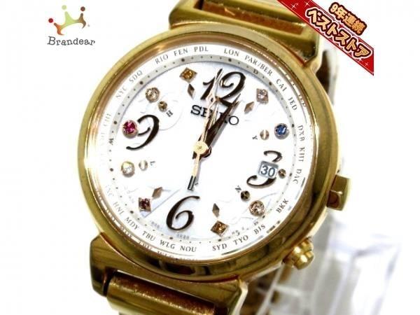精工錶SEIKO ~lukia精工Seiko電波 1B25-0AN0電池錶~代標不是現貨~35X28mm錶帶長14cm