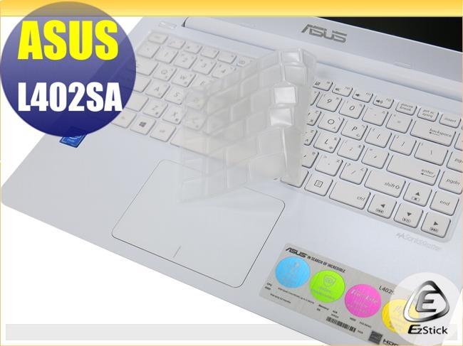 【Ezstick】ASUS L402 L402SA L402N L402NA 奈米銀抗菌TPU 鍵盤保護膜 鍵盤膜