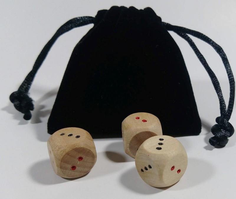 太極丸[標準款,木骰半手作]--易經起卦的最佳工具