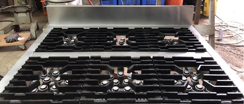 爐具六口西餐爐A0805長110深90高81天然-10000