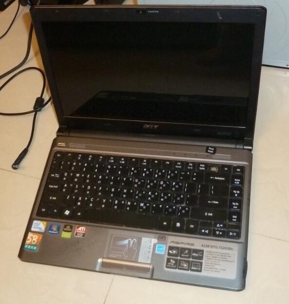 ACER 宏基  as3810tg 732g50n 不開機 無硬碟 記憶體 變壓器