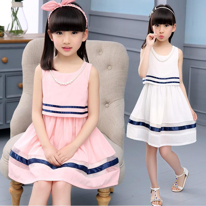 品牌童裝女童夏裝2016新款兒童連衣裙夏季中大童女裝女孩公主裙子