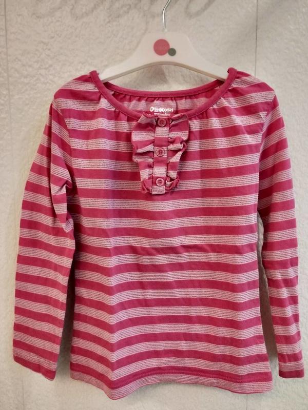 OSHKOSH粉色條紋長T 4(賣場還有麗嬰房,安妮公主,ELLE..)