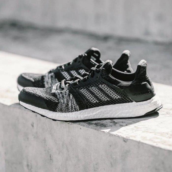9527 Adidas Ultra Boost ST 黑白色編織馬